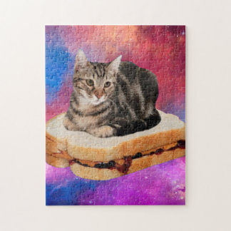 bread cat  - space cat - cats in space jigsaw puzzle