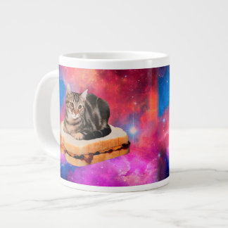 bread cat  - space cat - cats in space large coffee mug