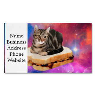 bread cat  - space cat - cats in space Magnetic business card