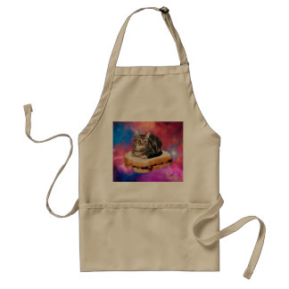 bread cat  - space cat - cats in space standard apron