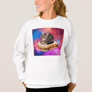 bread cat  - space cat - cats in space sweatshirt
