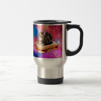 bread cat  - space cat - cats in space travel mug