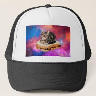 bread cat  - space cat - cats in space trucker hat
