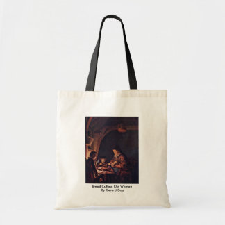 Bread Cutting Old Woman By Gerard Dou Tote Bag