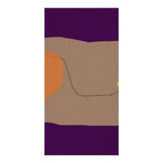 Bread Dark Purple Photo Cards