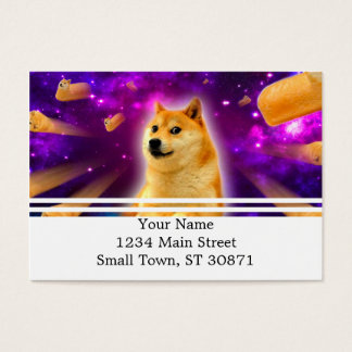bread  - doge - shibe - space - wow doge business card