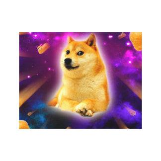 bread  - doge - shibe - space - wow doge canvas print