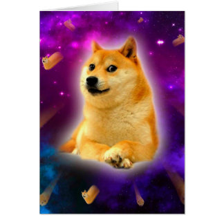 bread  - doge - shibe - space - wow doge card