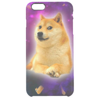 bread  - doge - shibe - space - wow doge clear iPhone 6 plus case
