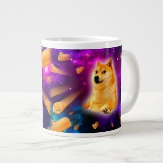 bread  - doge - shibe - space - wow doge large coffee mug