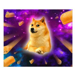 bread  - doge - shibe - space - wow doge photo print