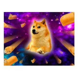 bread  - doge - shibe - space - wow doge postcard