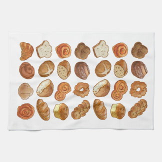 "Bread Pattern Kitchen Towel 16"" x 24"""