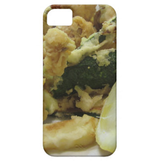 Breaded and fried crunchy vegetables with lemon iPhone 5 case