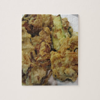Breaded and fried crunchy vegetables with lemon jigsaw puzzle