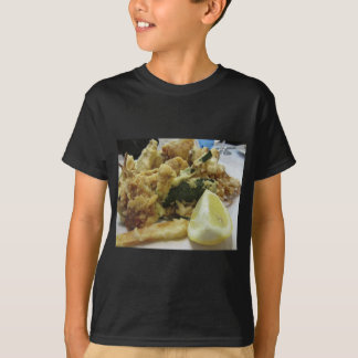 Breaded and fried crunchy vegetables with lemon T-Shirt