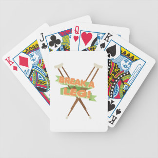 Break A Leg Crutches Bicycle Playing Cards