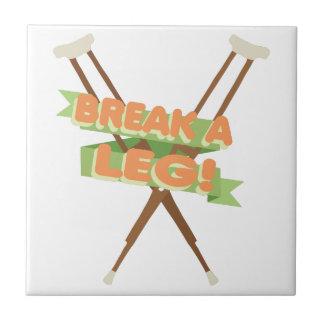 Break A Leg Crutches Tile