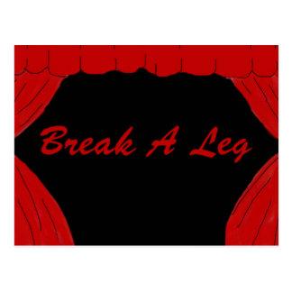 Break A Leg Postcard