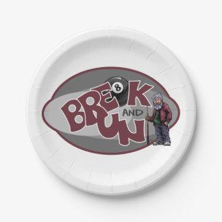Break and Run Paper Plate