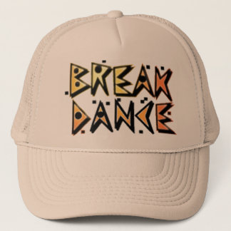 Break dance brown hat