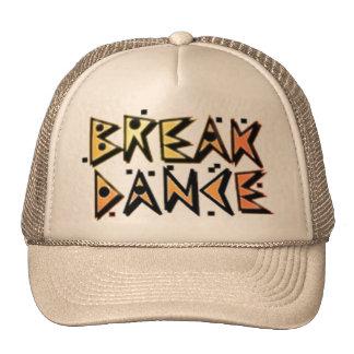 Break dance brown hat