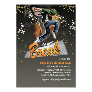 Break Dance Invitation