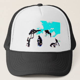 Break dance trucker hat