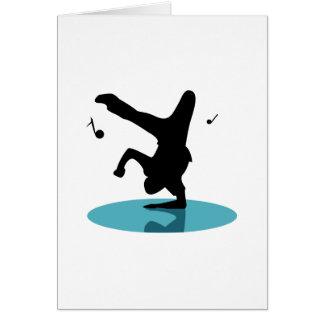 Break Dancer Greeting Card