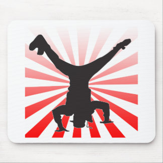 break dancing explosion mouse pad