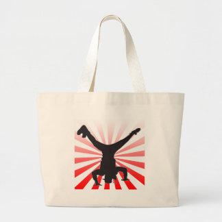 break dancing explosion tote bags