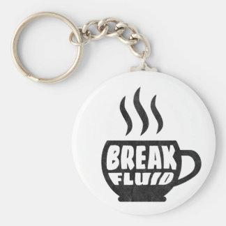 Break Fluid Grunge Graphic Coffee Keychain Design