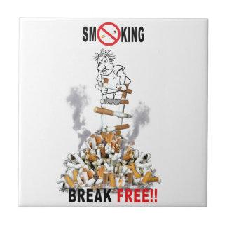 Break Free - Stop Smoking Ceramic Tile