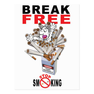 BREAK FREE - Stop Smoking Postcard