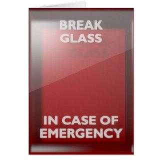 Break In Case Of Emergency Red Box Card