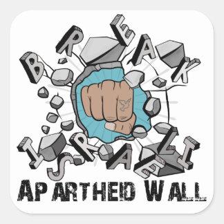 Break Israeli Apartheid Wall Square Sticker