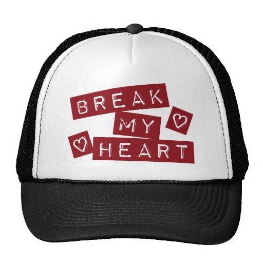 Break My Heart Mesh Hats