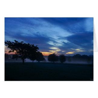 Break Of Dawn And Fog Card