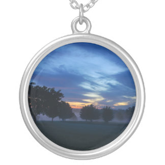 Break Of Dawn And Fog Silver Plated Necklace