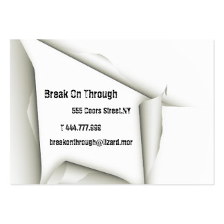 Break On Through Business Card Template