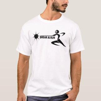 """""""break & run"""" for white shirt"""