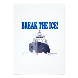 Break The Ice 13 Cm X 18 Cm Invitation Card