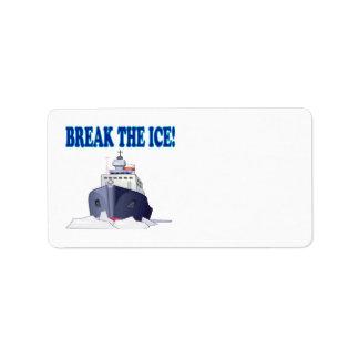 Break The Ice Address Label