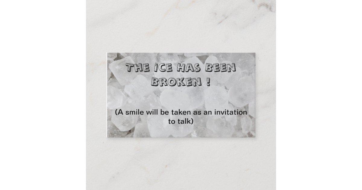 Break the ice dating business card   Zazzle.com.au