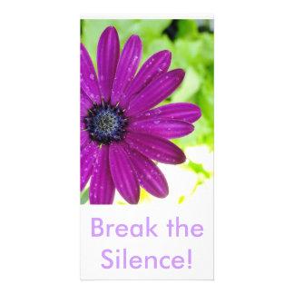 Break the Silence Post Card Custom Photo Card