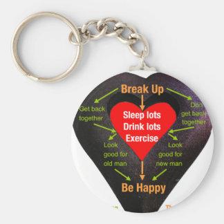 Break Up Advice Basic Round Button Key Ring