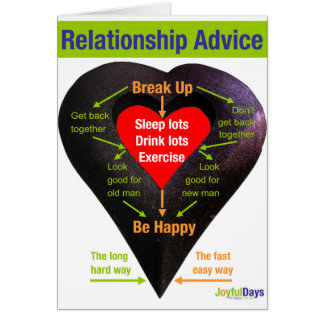 Break Up Advice Greeting Card