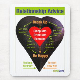 Break Up Advice Mouse Pad