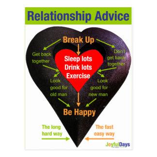 Break Up Advice Postcard