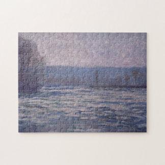 Break-Up of Ice on Seine Bennecourt Monet Fine Art Puzzle